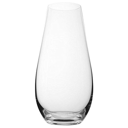 VANILLA SEASON, vaso di vetro Bohemia Cristal, 30 cm di altezza, Vaso, cristallo, decorazione, vaso per fiori, vaso di vetro, grande, cristallo, vaso, rotondo, FIJI