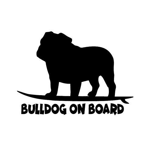 Etiqueta engomada del Animal de Cristal de la Ventana Bulldog a Bordo del Cofre (27.4x19.6cm) (Color : 1)