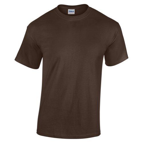 Gildan - Camiseta básica de manga corta Unisex con algodón grueso Niños Niñas - Verano/Calor
