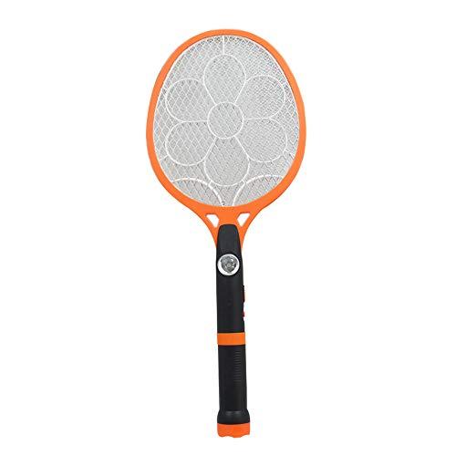 Horsebiz - Raqueta eléctrica con mosquitera, Mosquitos y Insectos con Linterna LED extraíble Recargable de Mano Que Mata Insectos Mosquitos de Abeja y bichos en Interiores y Exteriores