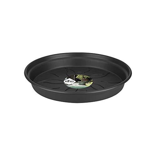 Elho Green Basics Untersetzer 45 - Lebhaft Schwarz - Drinnen & Draußen - Ø 45.2 x H 5.6 cm