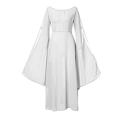 Muranba Womens Dresses Retro Cosplay Vintage Party Club Elegante Dress