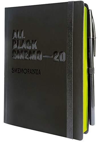 All black Smemo 2019/2020, Datata 12 mesi, 12x16,5 CM - giornaliera