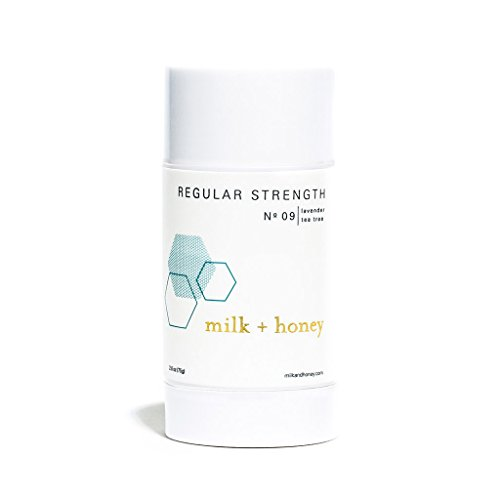 milk + honey Regular Strength Aluminum Free Deodorant No. 09, Lavender Tea Tree, 2.6 Ounce