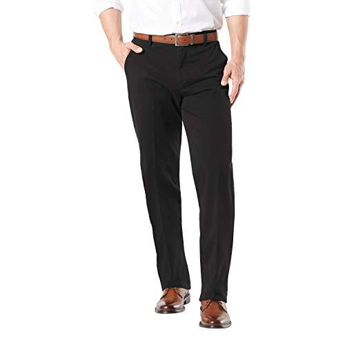 Dockers Men's Workday Khaki Smart 360 Flex Pants, Black, 46W x 29L