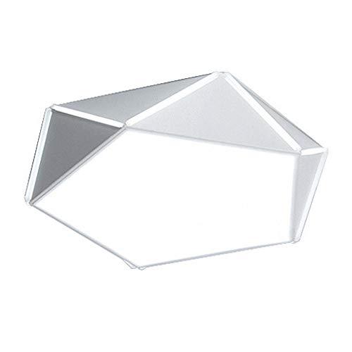 Plafondlampen 30W geometrische zeshoek Φ50CM inbouw oogbescherming acryl lampenkap wit behuizing van smeedijzer woonkamer hal kantoor