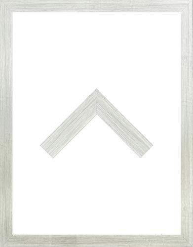 RahmenMax Morena Holz Werkstoff Bilderrahmen 34 x 42 cm modernes sehr eckiges Profil 42 x 34 cm Grosse Farbauswahl jetzt: Pinie Dekor mit Kunstglas klar 1 mm