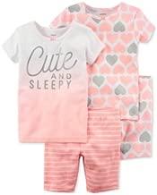 Carter's - Set de Pijama de 4 Piezas para bebé niña de 6 Meses