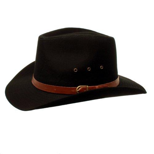 Accessoryo - Hommes 58cm Noir Le Style Stetson Chapeau De Cowboy