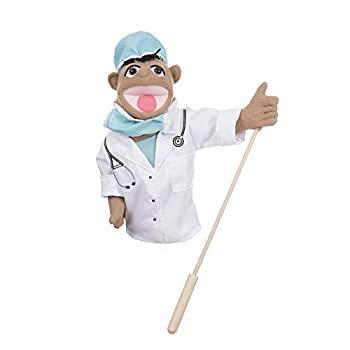 Melissa & Doug Doctor Puppet  Dr Chartwell  with Detachable Wooden Rod