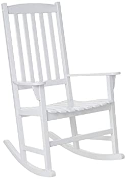Cambridge Casual Solid Wood Bentley Porch Rocking Chair Rocker White