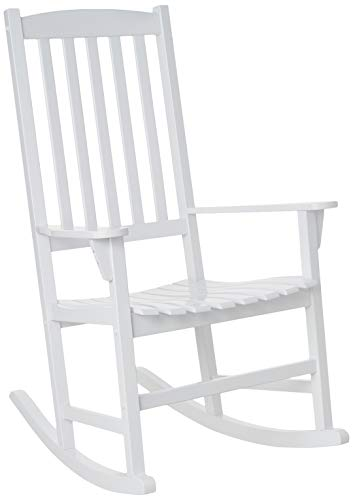 Cambridge Casual Solid Wood Bentley Porch Rocking Chair, Rocker, White