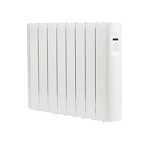 Haverland RCE8S - Emisor Térmico Digital Fluido Bajo Consumo, 1200 de Potencia, 8 Elementos, Programable, Exclusivo Indicador De Consumo