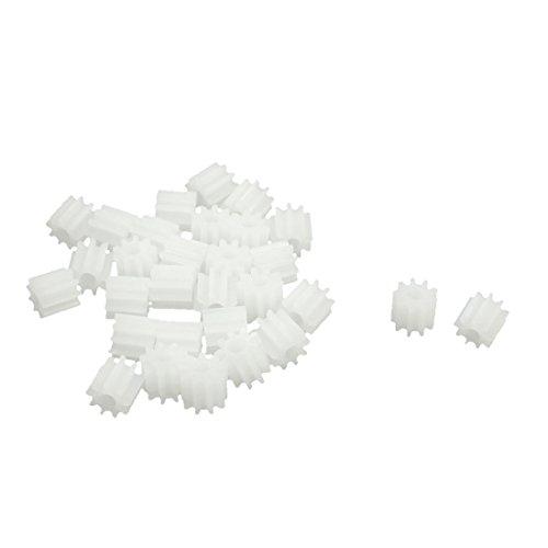 Sourcingmap a14031300ux0102 – Lot de 30 engrenages moteur en plastique 5,5 x 2 mm 9 dents