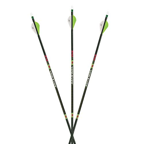 "Carbon Express Maxima XRZ Select Ultimate Lightweight Hunting Arrow, 150, 250 OR 350 Options, Backbone Technology, Tri-Spine/Red Zone Technology.001"" Straightness, 12-Pack Shafts"