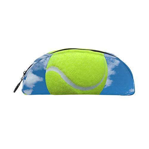 Federmäppchen Halter Sport Tennis Ball Sky Cloud Stiftebeutel Tasche mit Reißverschluss Make-up für Kinder Mädchen Jungen