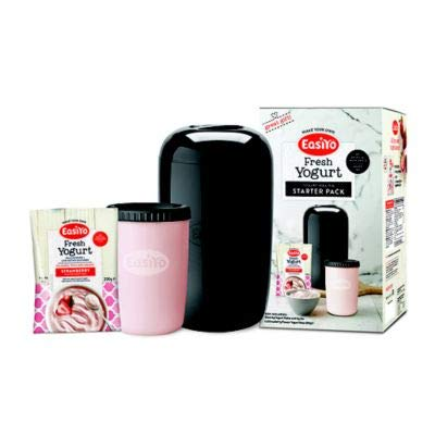 EasiYo 1kg Yoghurt Maker Black and 1 Sachet Starter Kit