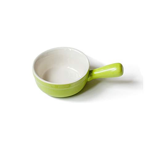 Yxp Zuppa di Ciotole di Ceramica di Cipolla Francese con Maniglie, 12 Once - Set 4,Verde