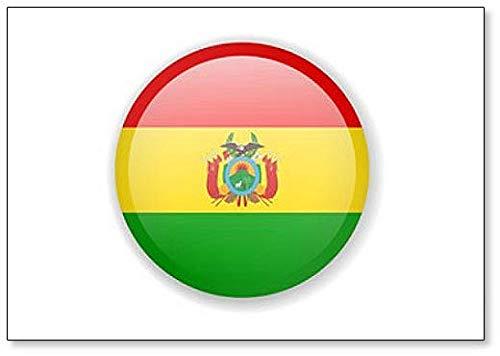 Kühlschrankmagnet Bolivien-Flagge, r&, hell