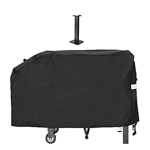 QuliMetal 28' Grill Griddle Cover for Blackstone Outdoor Cooking Gas Grill Griddle Flat Top Station, for Camp Chef Griddle and Most 2 Burner Flat Top Grill Griddle, Heavy Duty Cover with Support Pole