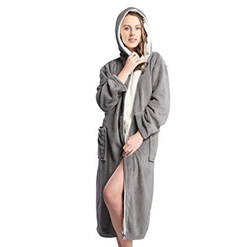 Dames Dressing Jurk Fluffy Super Zachte Hooded Badjas voor Vrouwen Pluche Fleece Perfect voor Spa Gym Loungewear Lange Robe Warm Badjas Housecoat Volledige Lengte