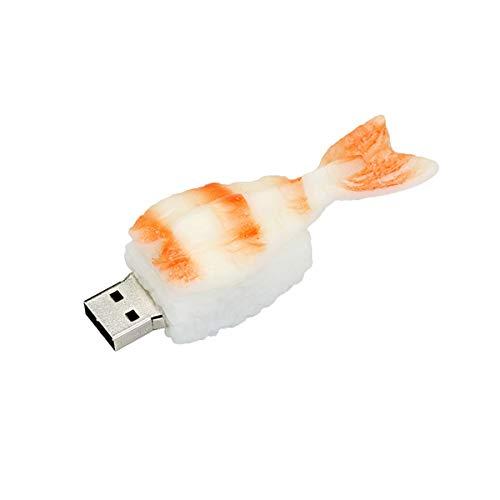 Dispositivo di archiviazione dati Chiavetta USB Flash Drive da 16 GB - Bella unità Memory Stick Jump - Gamberetti Sushi a forma di pendrive per amici di famiglia Collega - Civetman