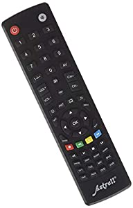 Astrell 11999 - Mando a distancia 8 en 1 (TV, TDT, SAT, DVD, VCD, Home Cinema, AUX), negro