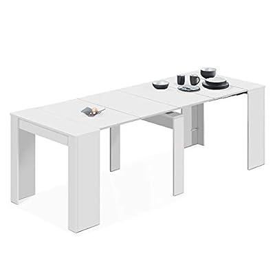 La mesa consola extensible Kendra es una fantástica mesa de comedor extensible con 5 posiciones, que te permitirá pasar de los 50 cm a los 235 cm de largo Medidas posición cerrada: 90 cm (fondo) x 50 cm (ancho) x 78 cm (alto). Gracias a su habilidad ...