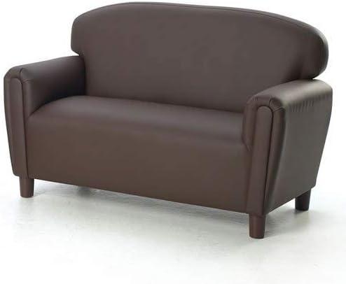 Best Brand New World Furniture FP2C100 Brand New World Preschool Enviro-Child Upholstery Sofa, Chocolate