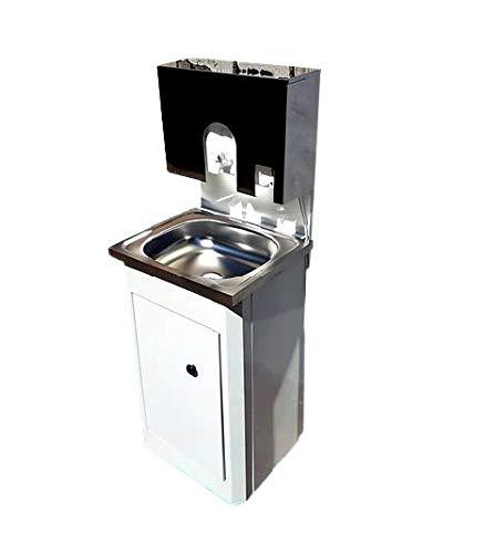 SANITOBI Mobiles Waschbecken RBSC. Tragbare Waschstation. Handwaschbecken mit.Wassererhitzer. Spülbecken. Aufwaschtisch. Transportierbares Waschbecken.