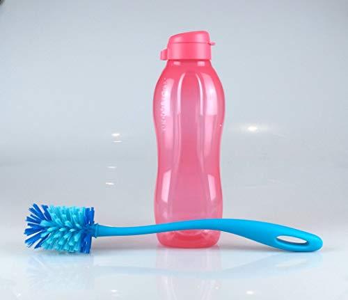 Tupperware EcoEasy - Botella ecológica (1,5 L, incluye cepillo para botellas), color rosa