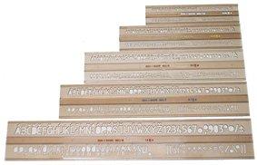 5 Schriftschablonen ISO Norm im Set Schrift Schablone 2,5 3,5 5 7 10 mm Schablonen