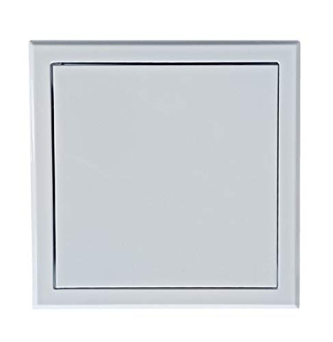 HVAC Metal Access Panel Made from Galvanized Steel in White Color with Powder Coating RAL9016, Square Shaped Inspection Hatch, Plasterboard Access Door. 7.9