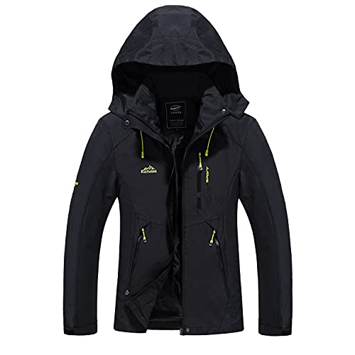LUI SUI Women's Waterproof Lightweight Rain Coat Sports Mountain Windproof...