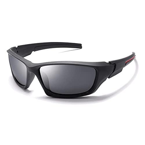 XJW Gafas de sol polarizadas deportivas unisex, se pueden utilizar para visión nocturna para viajes de ciclismo 2021/5/24 (color gris)