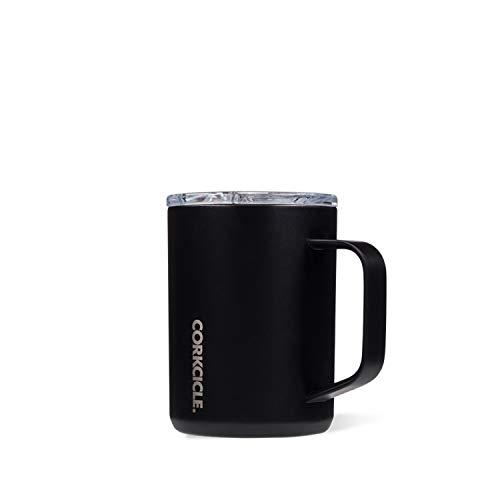 Corkcicle mug, TAZZA TERMICA 16 Oz/475 ml, Black
