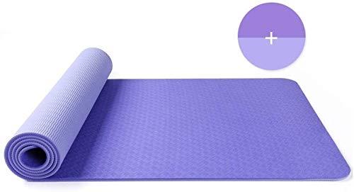 QZ 147258 6mmExercise Yoga stuoia del Rilievo Non di Slittamento Durevole Allenamento Pilates Fitness Gym Meditazione Cuscino Naturale Gomma Spessa Perdere Peso, 183 x 61, Colore: 3# (Color : 1)