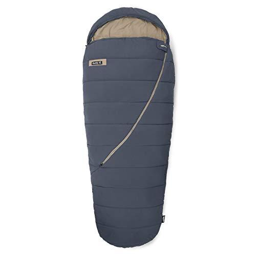 Qeedo Buddy XL Schlafsack, Mumie in Eiform, 240x100cm (LxB) - grau
