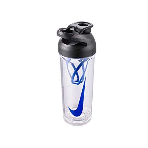 Nike Botella unisex TR HYPERCHARGE BOTTLE para adultos, transparente, negro, Game Royal, 709 ml