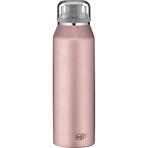 alfi Trinkflasche 500ml, isoBottle, Thermosflasche, Edelstahl rosa Isolierflasche auslaufsicher, Wasserflasche 5677.210.050, Thermoskanne 12 Stunden heiß, 24 Stunden kalt