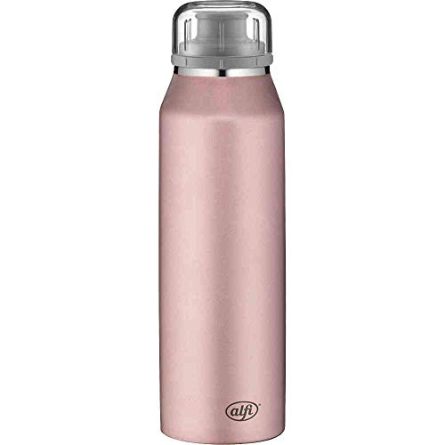 alfi isoBottle Isolier-Trinkflasche, Edelstahl, Rosa, 500ml