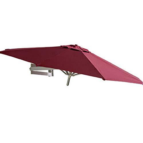 Sombrilla Parasol para Jardin Terraza Exterior Jardín Patio Balcón Soporte De Pared Para Sombrilla, Toldo Para Parasol Resistente A Los Rayos UV 95 + Con Soporte Telescópico De Aluminio, 6.5 Pies / 8