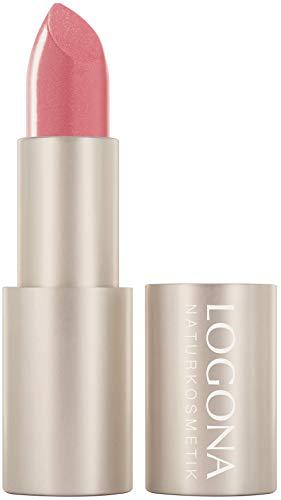LOGONA Naturkosmetik Lipstick no. 02 blossom, Lippenstift, pflegend, natürliche Farben, rosa, rose, mit Bio-Inhaltsstoffen, 1 er Pack