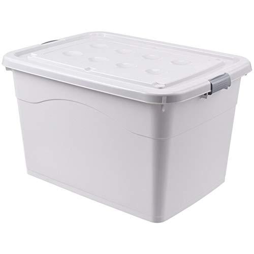 ZNQPLF 50L / 80L / 120L Caja de Almacenamiento de Ropa Extra Grande Colcha Gruesa Toys de plástico Caja de Almacenamiento Canasta de Almacenamiento de contenedor de hogar 886