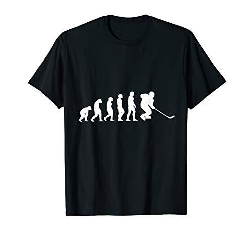 Eishockeyspieler Evolution Eishockey Ice Hockey Geschenk T-Shirt