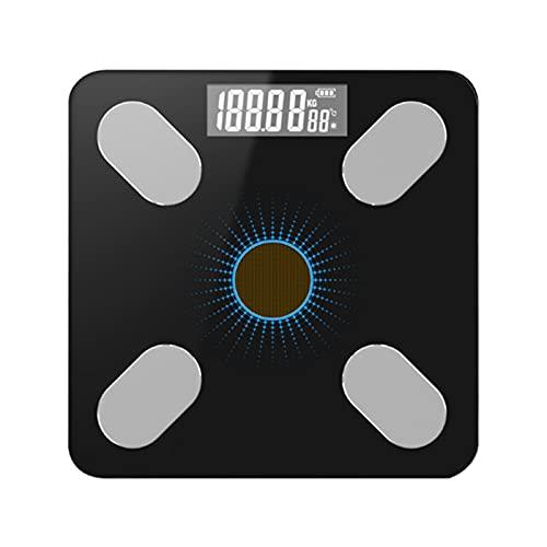Electronic Scale,APP BT Básculas de grasa inteligentes para el cuerpo Báscula de peso de energía solar Regalo de alta precisión para el cuidado de la salud del cuerpo familiar