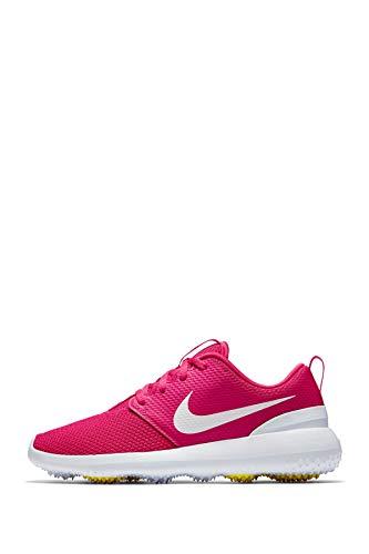 Nike Wmns Roshe G, Zapatillas de Golf para Mujer, Multicolor (Rush Pink/White/Dynamic Yellow 601), 38 EU