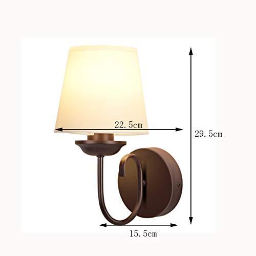 HUAMU-WALL LAMP Applique Murale LED, sans Source De Lumière, Abat-Jour en PVC, Chambre Compatible Chevet/Salon / Passerelle