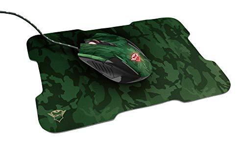 Trust GXT 781 Rixa Gaming Maus und Mauspad (6 Tasten, 3200 DPI, LED) - Camo