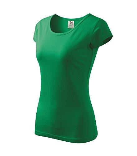 T-Shirt für Damen Ladies Shirt Pure - Größe und Farbe wählbar- (XXL, grasgrün)